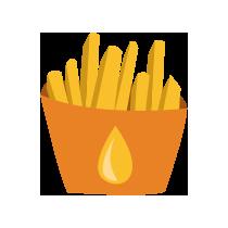 Hranolky fritované