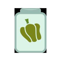 Paprika zelená kvašená