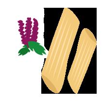 Penne amarantové