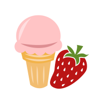 Zmrzlina jahodová