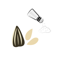 Slunečnicová semínka solená