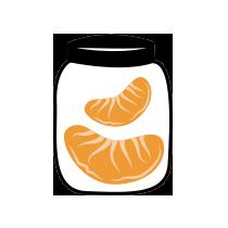 Mandarinka zavařená