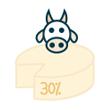 Sýr kravský tvrdý 30%