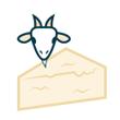 Sýr kozí zrající 50% t. v s.