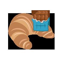 Croissant s čokoládovou náplní
