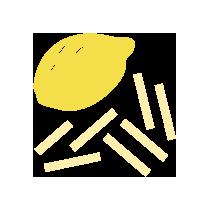 Citrónová kůra sušená