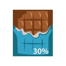 Čokoláda mléčná 30%