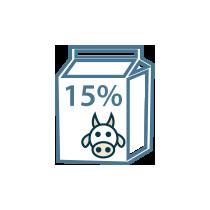 Smetana kravská zakysaná 15%