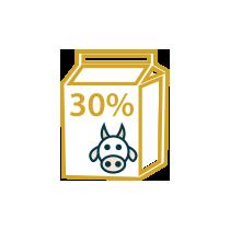 Smetana kravská sladká 30%