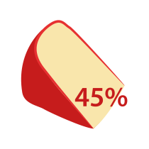 Eidam 45% t. v s.