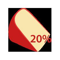 Eidam 20% t. v s.