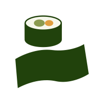 Řasy Nori sushi