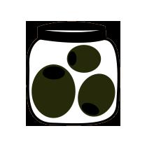 Olivy nakládané černé