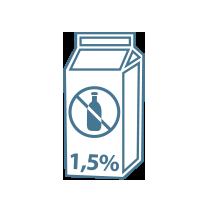 Mléko bezlaktózové 1,5%