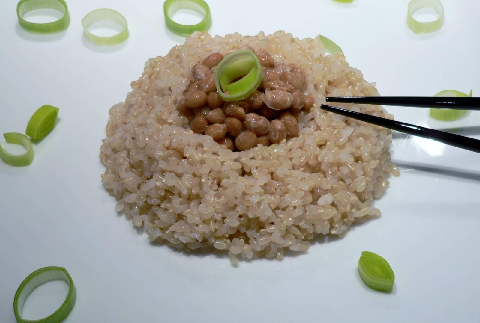 Natto s rýží