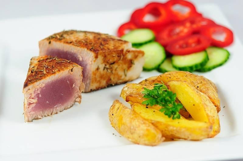 Steak z tuňáka s tymiánem