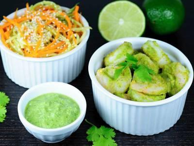 Krevety s koriandrovou salsou