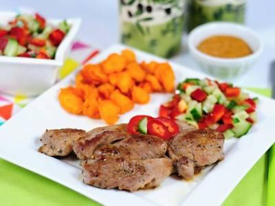 Krůtí steak s mrkvovými chipsy