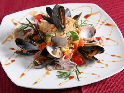 Mořské plody s rýží