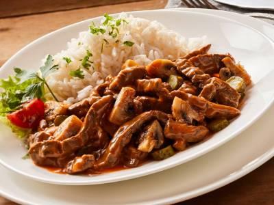 Stroganoff s rýží
