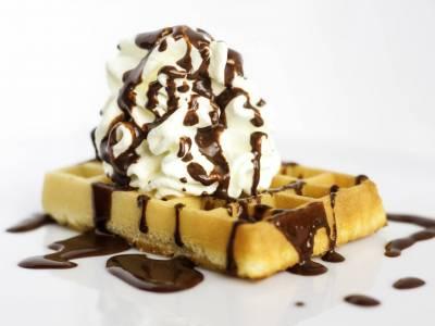 Belgické wafle se šlehačkou