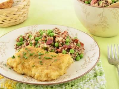 Obalovaná treska s quinoou