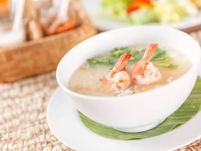 Rýžový krém s krevetami