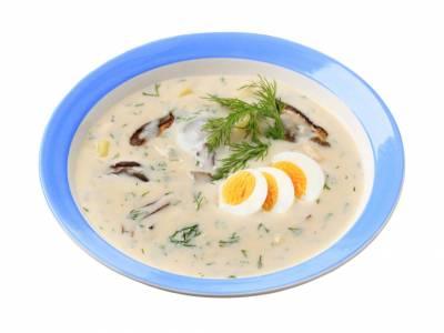 Krémová koprová polévka, tzv. kulajda