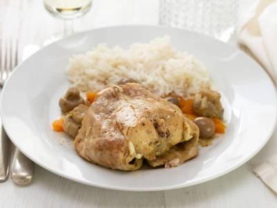 Pečený králík s rýží