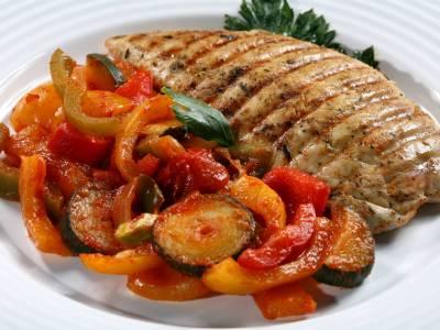 Kuřecí prso se zeleninou