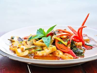 Kalamáry s chilli papričkami