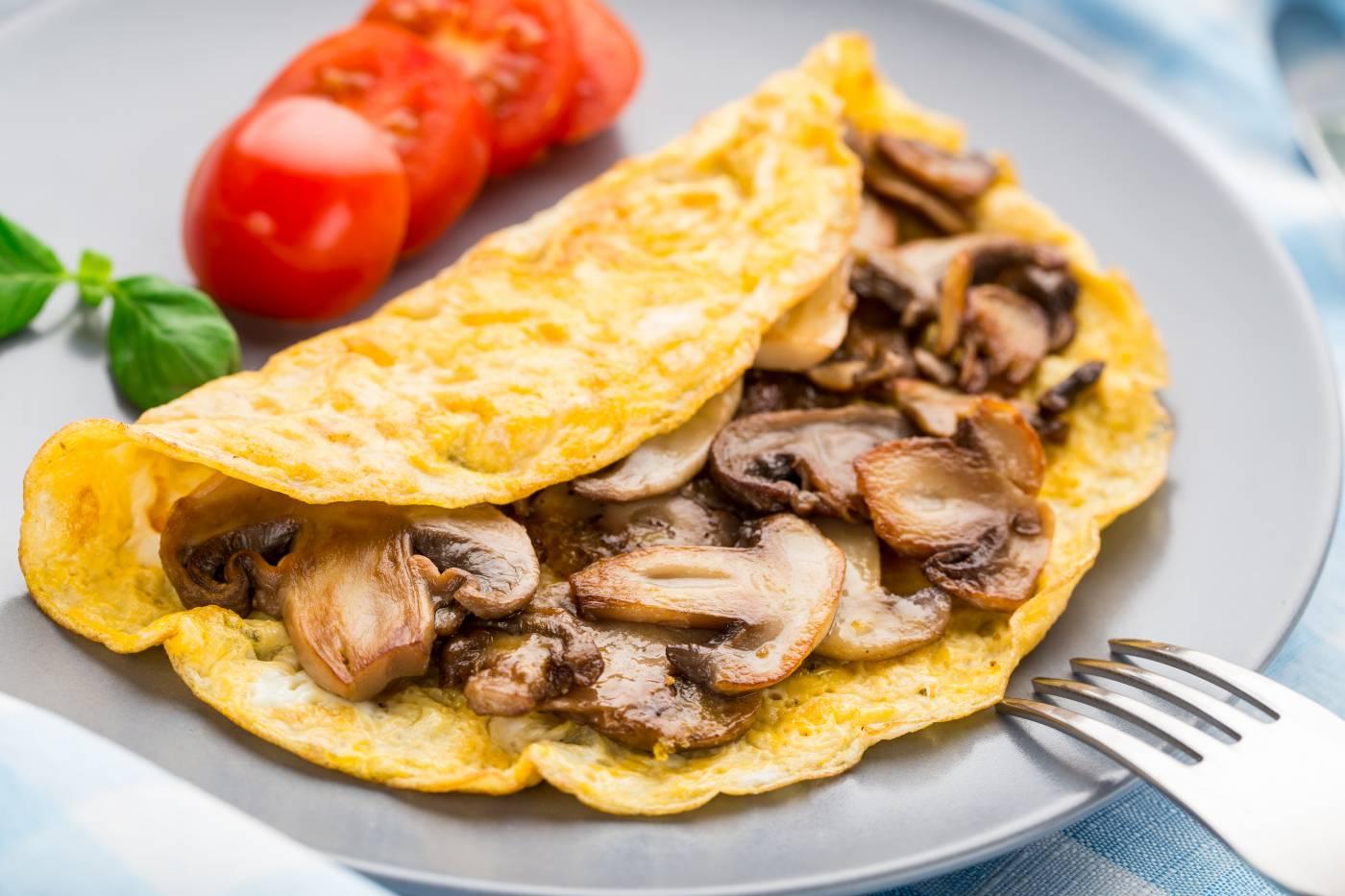 Vaječná omeleta se žampiony